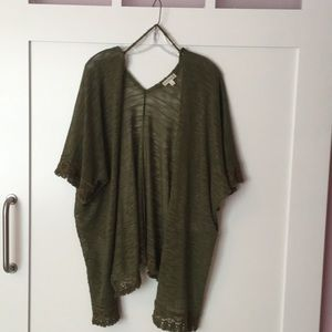 Green knit cardigan by Love on a hanger
